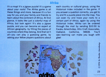 AFRIKA PUZZLE MAP GAME