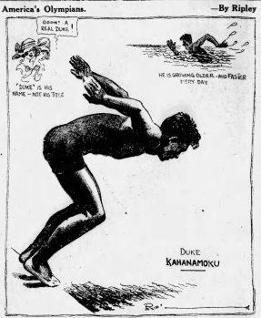 DUKE KAHANAMOKU by Ripley 8-4-1920