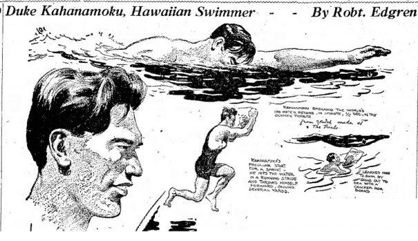 DUKE KAHANAMOKU, HAWAIIAN SWIMMER 1920