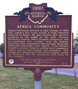 AFRICA OHIO MARKER 6-21